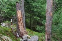 Steinschlagschäden könnten durch die Klimaerwärmung zunehmen