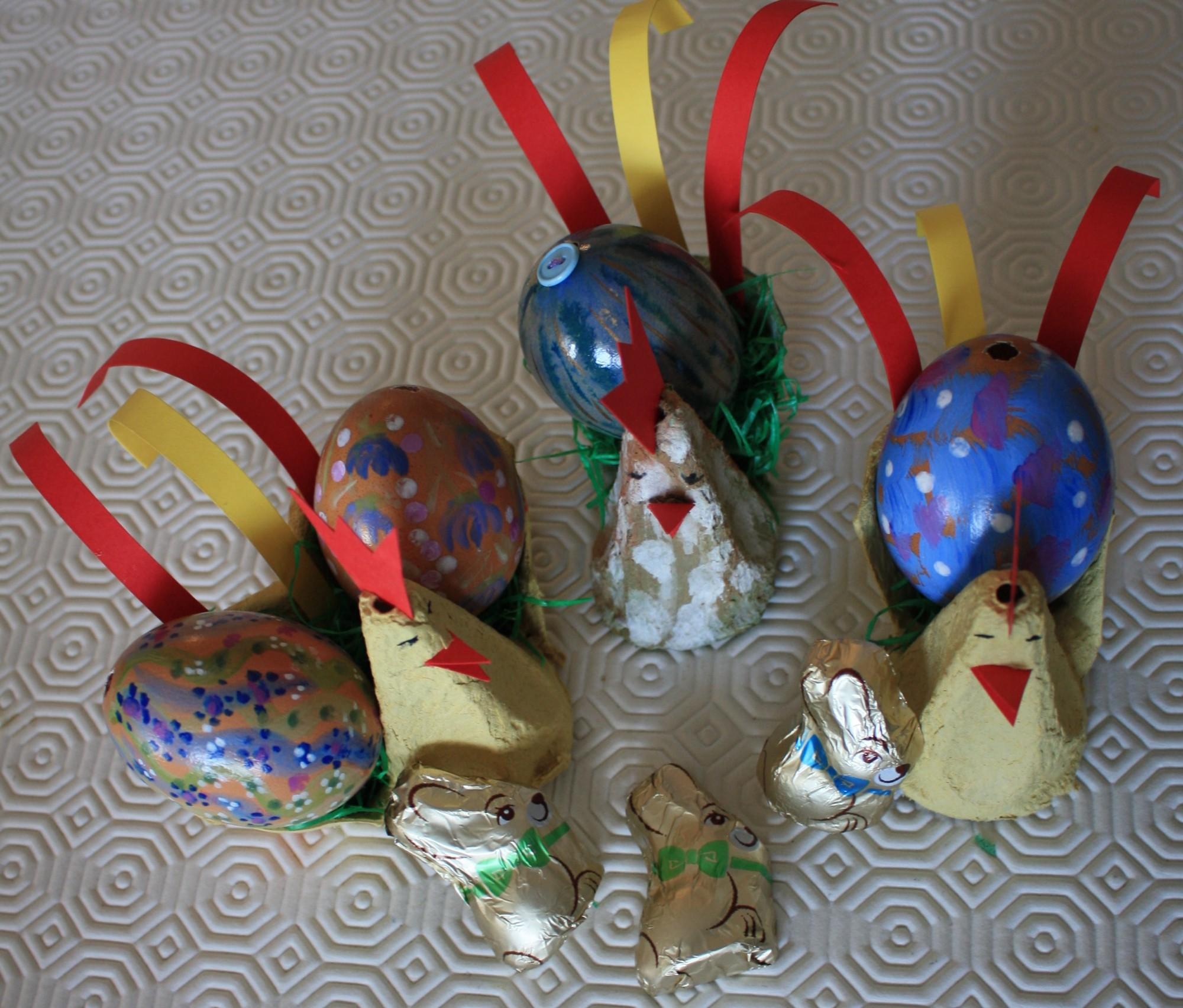 Befüllte Osterküken