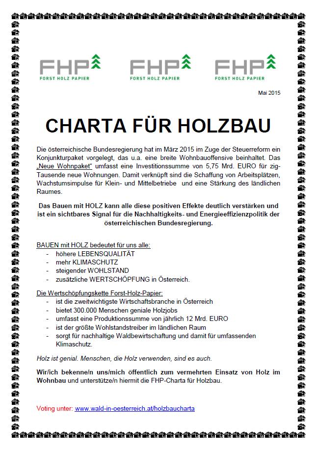 FHP-Charta für Holzbau