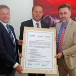 lnr: Troger (Vorstandsmitglied proHolz Tirol), Geisler (LH Stv. Tirol), Lex (Geschäftsführer proHolz Tirol)