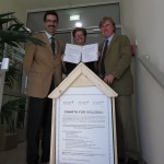 l.n.r.: BOKU Rektor Gerzabek, Vizerektorin Reithmayer, FHP-Vorsitzender Starhemberg