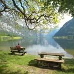 Erholung am ÖBf-Naturbadeplatz Obersee am Hallstätter See (OÖ)
